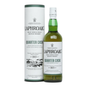 A Bottle of Laphroaig Quarter Cask Single Malt Scotch Whisky, one of the best everyday and affordable whiskies