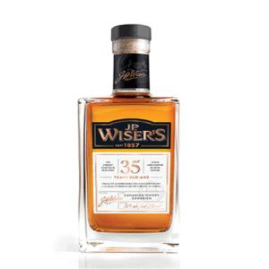 J.P. Wiser's is corn whisky and virgin-oak-aged rye whisky