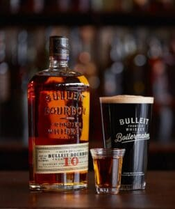 Bulleit 10 year Bourbon and stout makes a great whisky and beer pairing