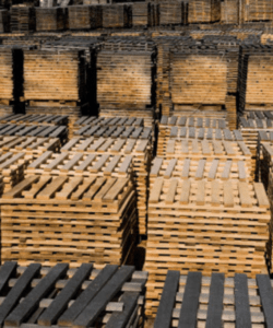Outdoor seasoning of staves at Allary Cooperage, France